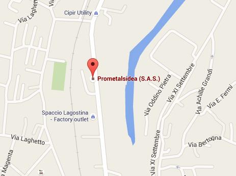 Mappa Prometalsidea - Via IV Novembre, 40, Omegna VB